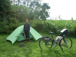 23jul2011 7/23の野営地 Wesenbergの湖畔