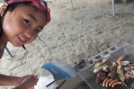 お肉や魚介も焼いて