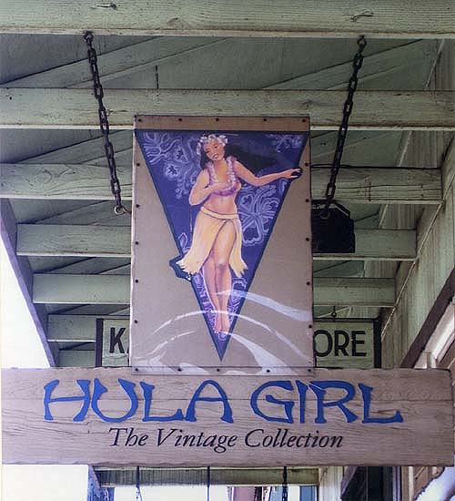 hula girl sign