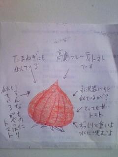 高島フルーティートマトの図