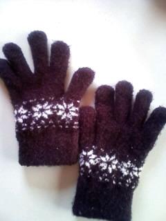 前に買ってくれた手袋