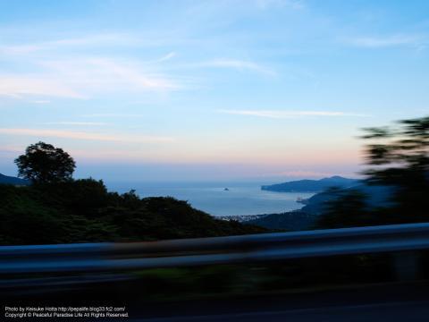 伊豆スカイラインに向かう坂の途中