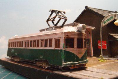 南海平野線駒川町駅ペーパークラフトジオラマ08
