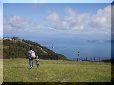 琵琶湖バレー頂上付近