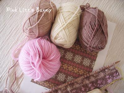 編み物開始