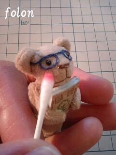 ミニくま鉛筆キャップ.04