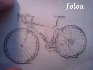 自転車.下絵