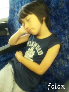 グリーン車で寝るRin
