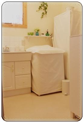 白い洗面所