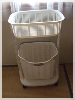 今まで使っていた洗濯カゴ