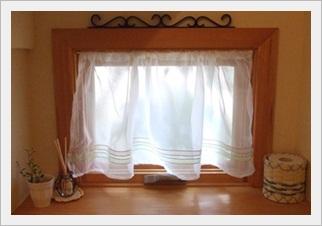 1階トイレのカーテン
