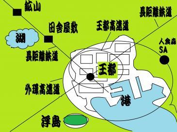 アマミ国概略図
