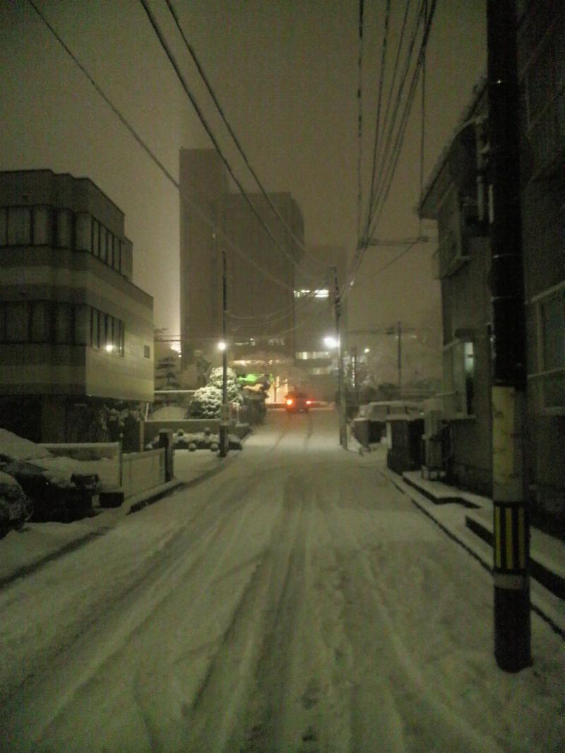 夜10時頃の風景