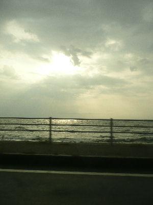 日本海の夕方