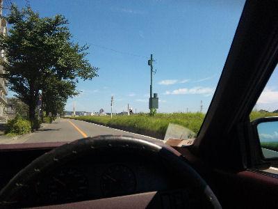 ルーチェで多摩川沿いをドライブ