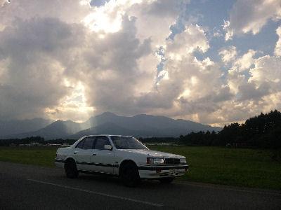 HCルーチェV6と八ヶ岳の夕暮