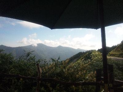 笠岳峠の茶屋の絶景