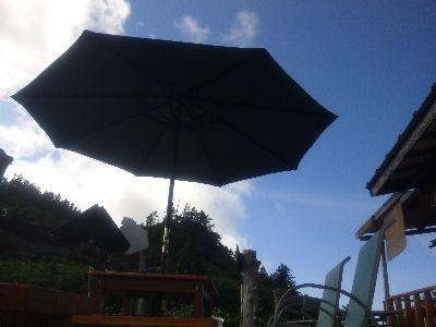 パラソルと青い空