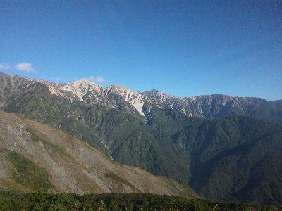 八方尾根から眺める白馬の山々