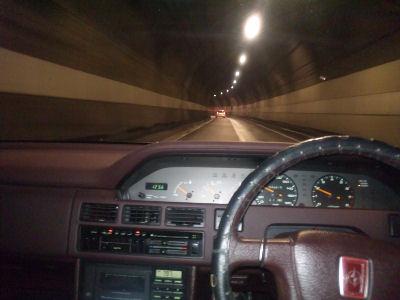 HCルーチェにて、トンネル内を