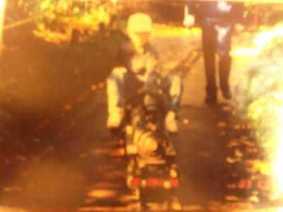 初めて、中央公園にてマレーに乗った頃の写真