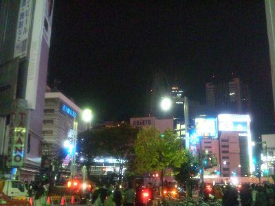 新宿夜11:45分