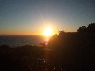 夕日ヶ丘付近から見える夕日