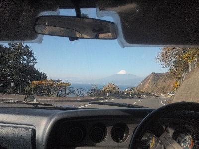 ルーチェの中から眺める富士山
