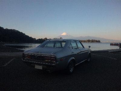 マツダルーチェと富士山、大瀬崎より