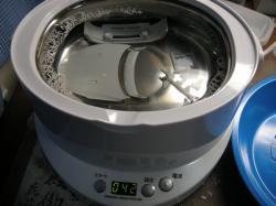 例によって超音波洗浄機で洗浄