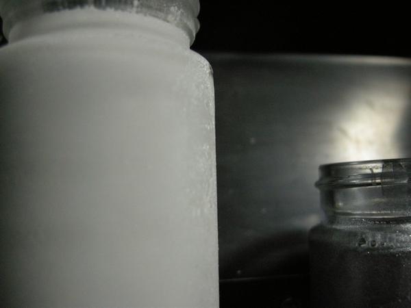 瓶が自ら冷えていき・・・