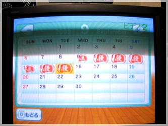 パンチカレンダー