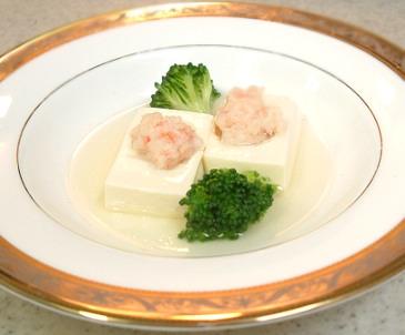 百花蒸醸豆腐