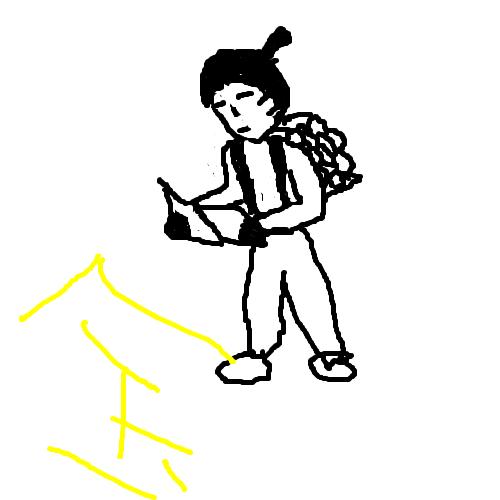 ya○u作「二ノ宮金次郎」