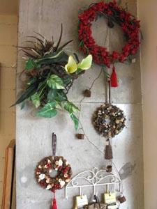 クリスマスリース オーナメント 雑貨 飾り 花