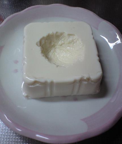 2009-08-06-豆腐とブルーベリー