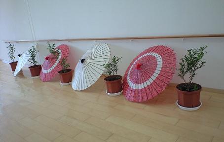 2008-09-20-和傘の演出とブルーベリー3