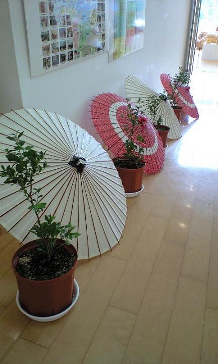 2008-09-20-和傘の演出とブルーベリー2