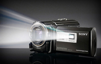 220GB HD Camcorder with Projector