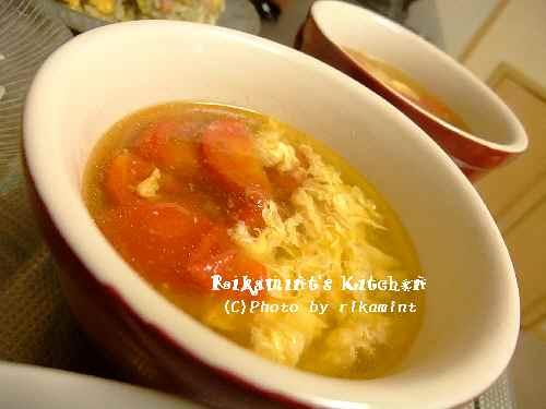 DSCF6・7トマトと卵のスープ