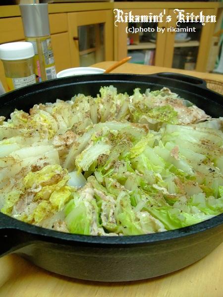 DSCF10・16白菜と豚バラの重ね鍋 (2)