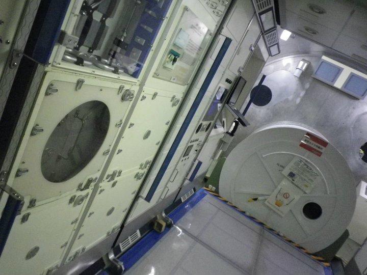 宇宙ステーションの中!