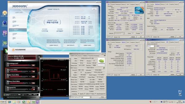 【21072】EVGA920 CPU定格GPU930MHz 室温14.2℃