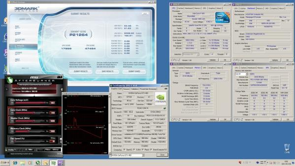 【21264】EVGA920 CPU定格GPU940MHz 室温9.5℃