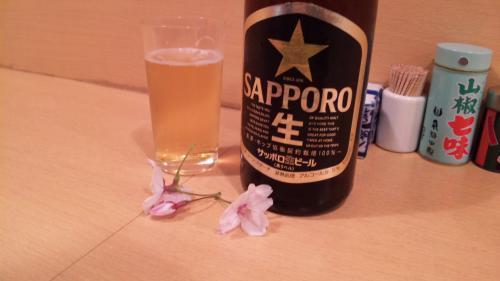 桜とおビール