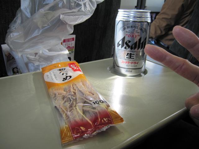 朝からビールって・・・