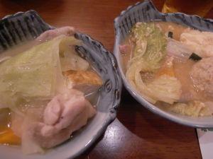 090927悠・塩ちゃんこ、味噌ちゃんこ