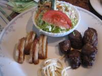 日替ランチ 牛肉のきんぴら巻&レンコンのはさみ揚げ
