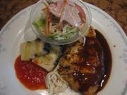 豚ロースカツレツ&野菜のテリーヌ焼き