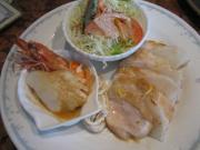 鶏肉と大根のソティーレモン風味&海老とロールイカのバター焼(縮